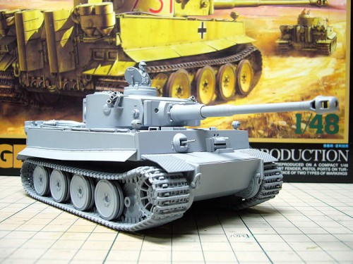 Tamiya 1/48MM Tiger I極初期型(アフリカ仕様)