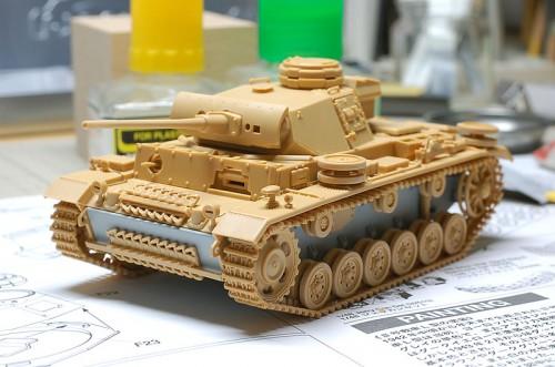 タミヤ1/48MM III号戦車L型
