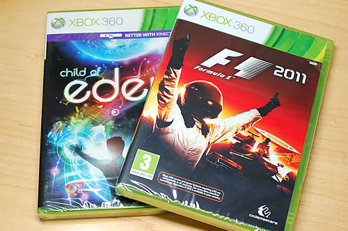 Xbox360 F1 2011 & Child of Eden