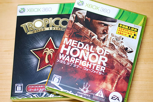 Xbox360 Medal of Honor:WarFighter&トロピコ4 ゴールドエディション
