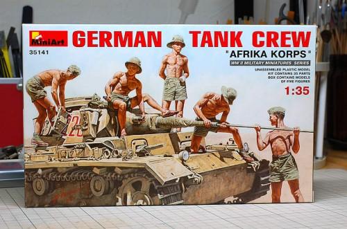 ミニアート ドイツ軍戦車兵 アフリカ軍団