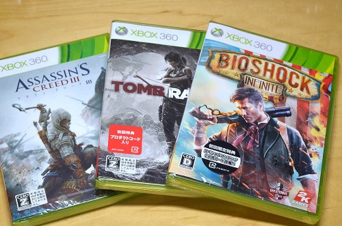 Xbox360 Bioshock Infinite,TombRaider,Assassin's Creed III