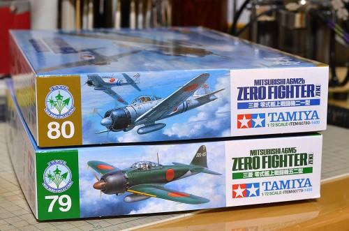タミヤ 1/72 三菱零式艦上戦闘機21型&52型